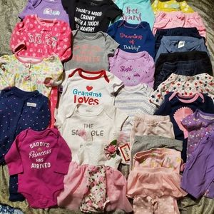 Girls NB-0/3 months 28 piece lot